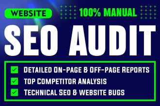 I will provide you website SEO analysis audit report with action plan to rank quickly
