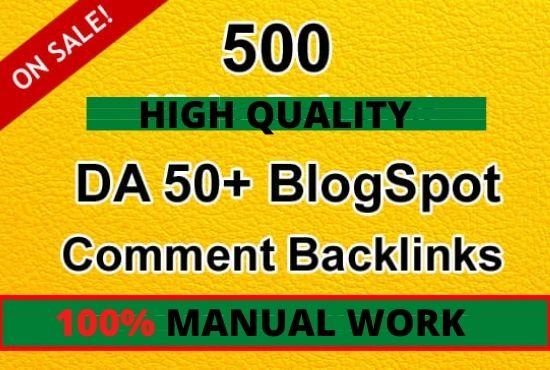I will create 500 blog comments high da pa