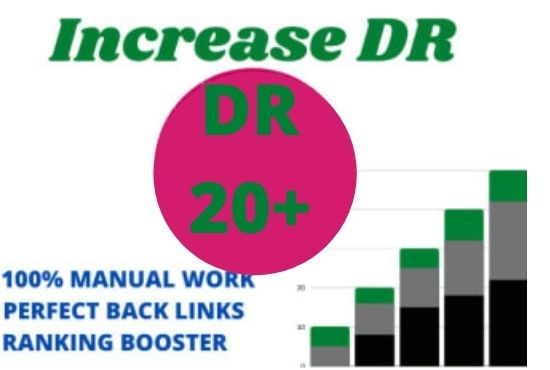 I will increase domain rating increase DR upto 20 plus