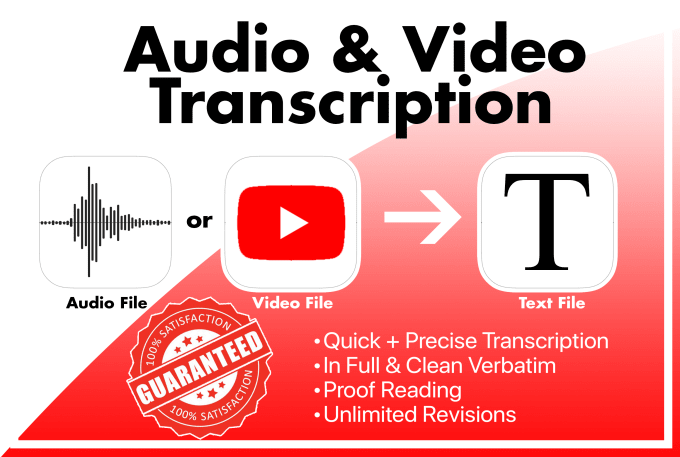 I will deliver 60+mint professional audio,  video,  interview,  podcast transcription