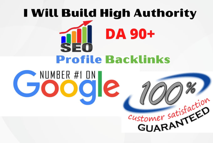I will do high quality da 90 plus 100 profile backlinks