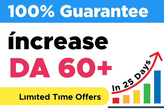 I will increase MOZ domain authority da 60