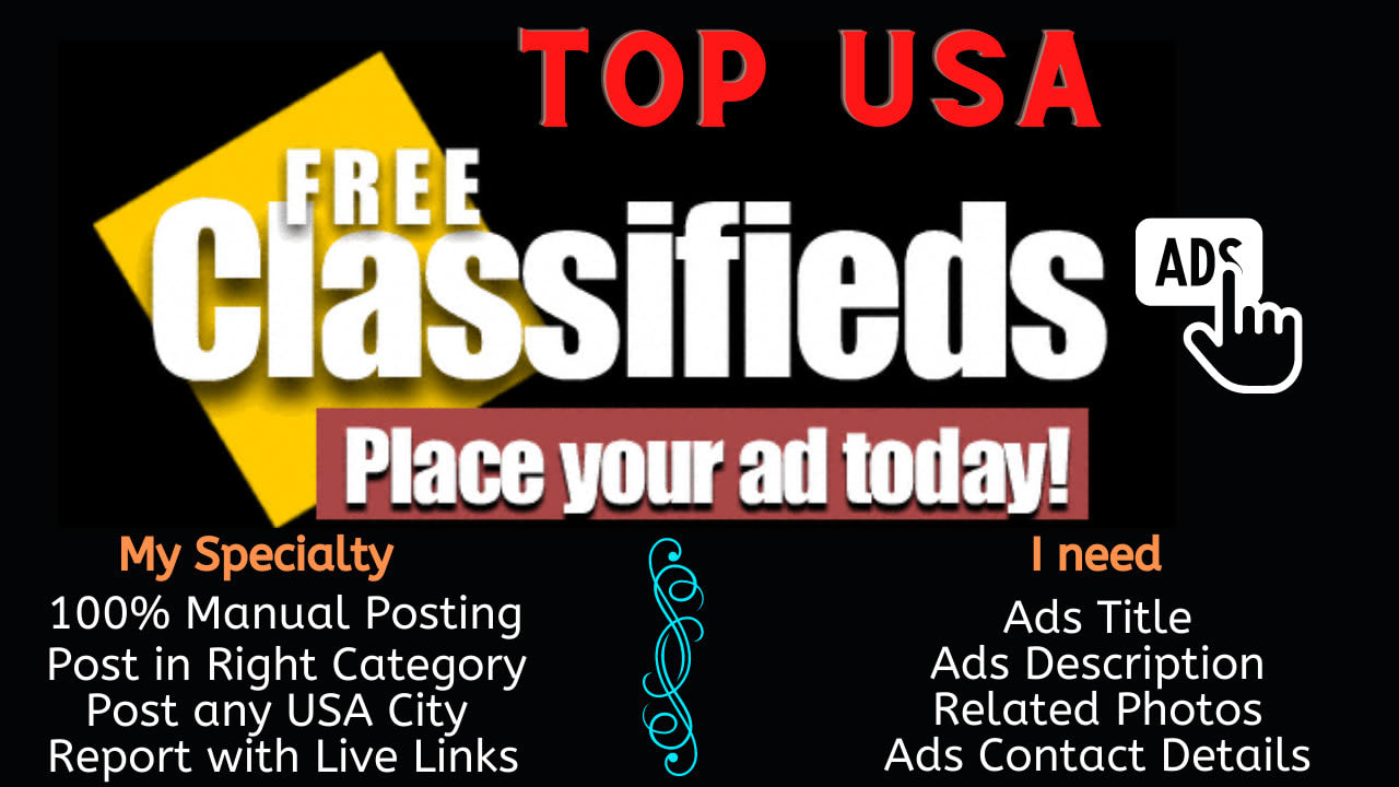 I will do classified ad posting on top ad sites of USA