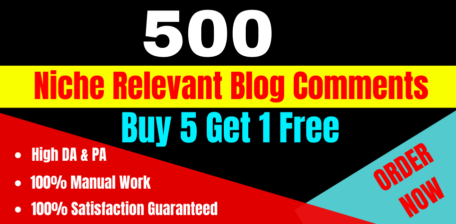 I will create High Quality 500 Niche Relevant Blog Comments Nofollow Backlinks