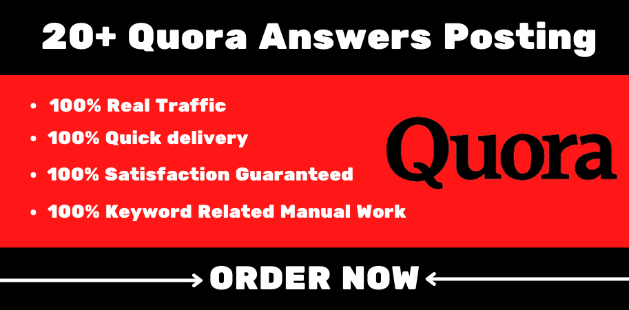 20+ Quora Answer Posting with your Keyword Related