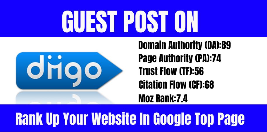 I will do dofollow diigo. com guest posting on high da, pa authority sites