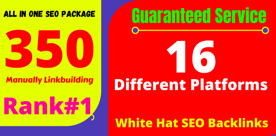 Skyrocket Your Site Into TOP Google Rankings With 350 All in One SEO Manual Link Building Package