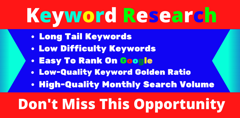 I Will Research 40 Most Profitable Keywords for your site
