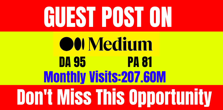 Write and publish guest post Medium. com DA-95 & PA 81 with 100 index guarantee within 24 hours