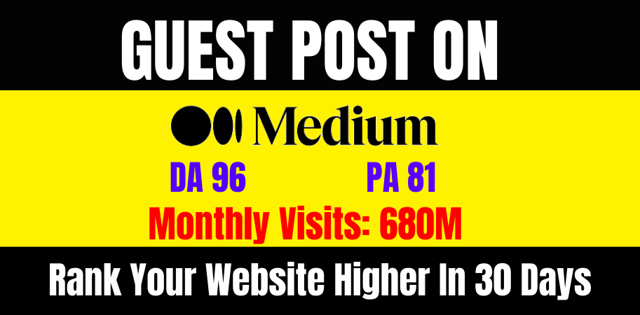 I will do write and publish guest post medium. com DA-96,  index guarantee within 24 hours