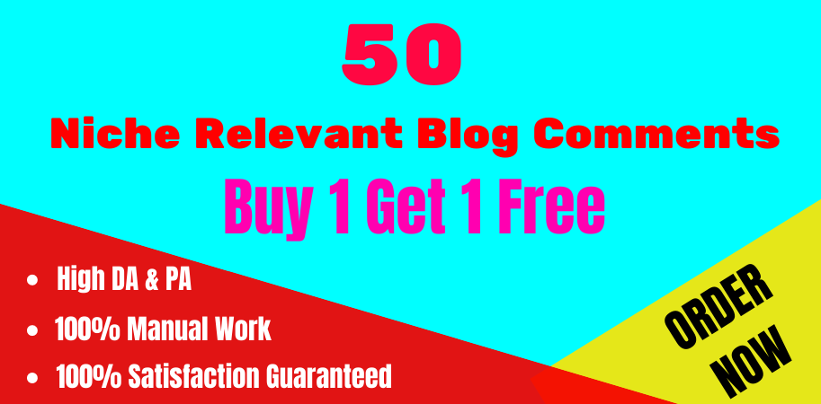 I will create High Quality 50 Niche Relevant Blog Comments Nofollow Backlinks