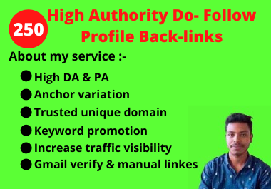 I will Create 250 Do-Follow SEO Profile Backlinks Services