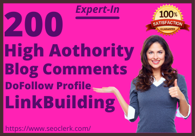 I Will Build 200 Do-follow Blog Comments Backlinks Building