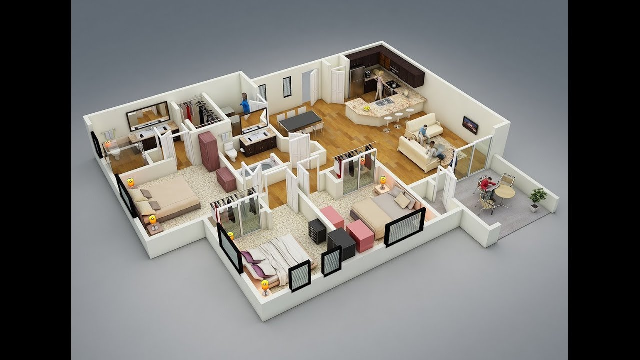 2D drawing & 3D plans creations for home, Apartment, buildings using with revit architecture softwar