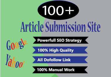 I will do 50 article submission job for manual SEO dofollow backlinks