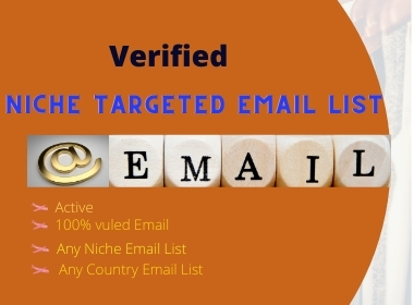 I will collect a niche-targeted bulk email list for email marketing.