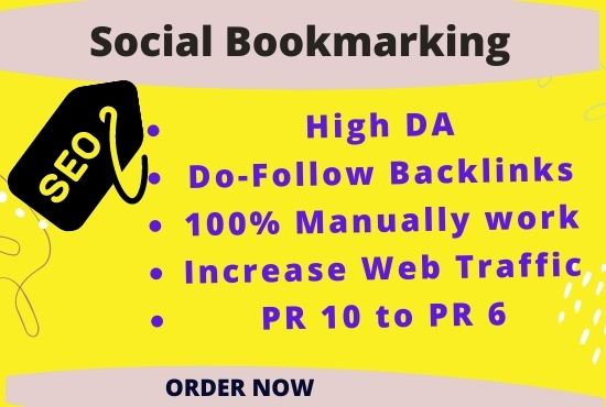 I will do it manually with high DA/PA 50 Social Bookmarking Backlinks for your website