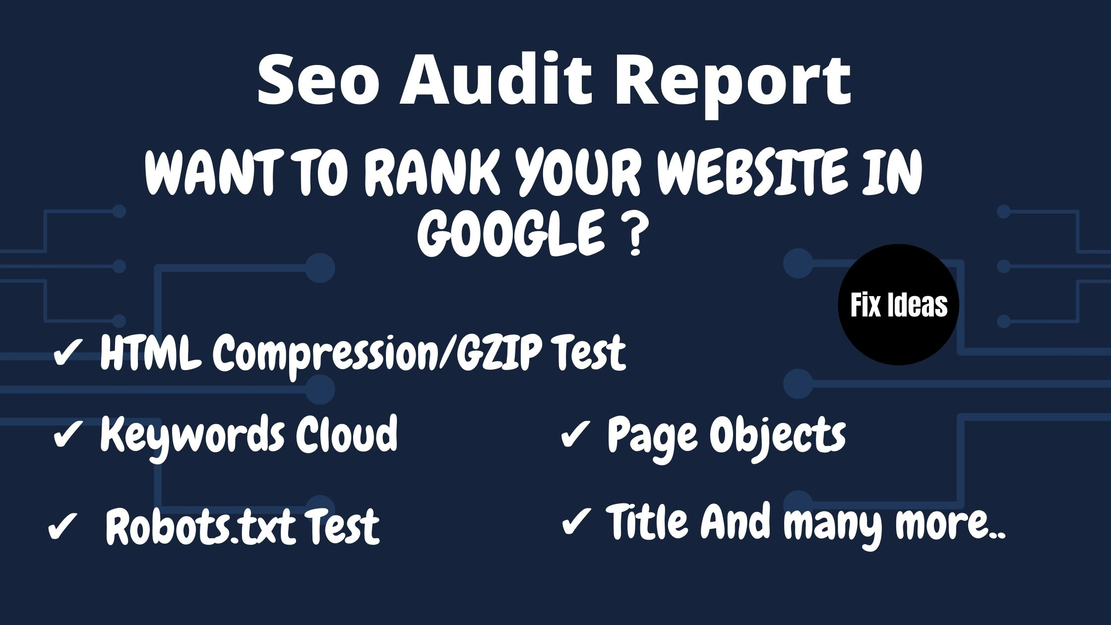 Review Website and provide a detailed SEO audit report