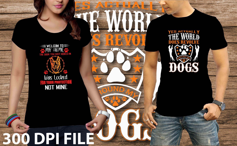 I will make dog T-shirt design
