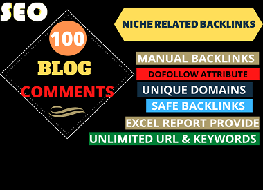 I will do 100 high quality dofollow blog comments backlinks for grow your business