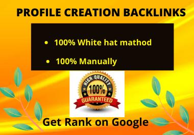 I will provide 25 high DA Authority Profile Creation SEO Backlinks