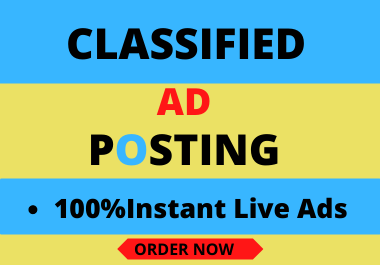 I will create high quality classified ad posting manually