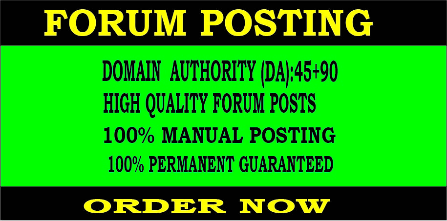 DOFOLLOW 30 Forum backlinks DA40+ for Search Rankings
