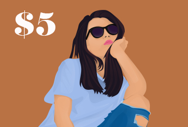 I will draw minimalist illustration people from your photo