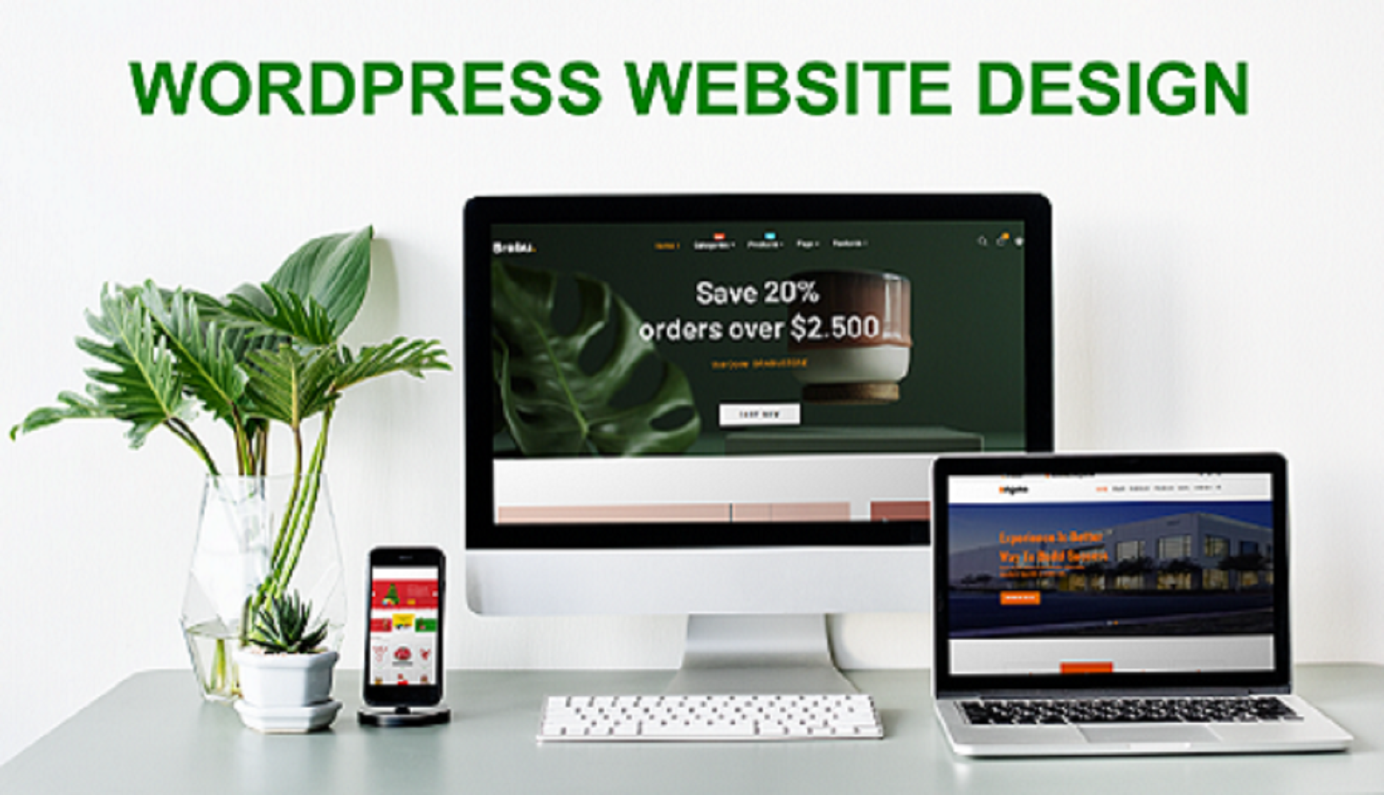 I will do a responsive WordPress website design and customization