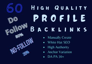 6o Top Quality Profile Backlinks