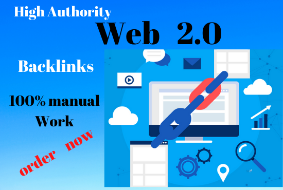 Manual 20 Web2.0 Property permanent backlinks unique link building boost your ranking