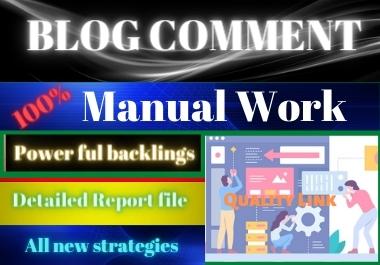 100 Blog Comments high authority website permanent backlinks unique link building