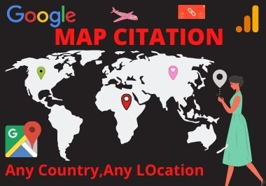 Manual 200 Google Maps Citation Permanents backlinks rank first page
