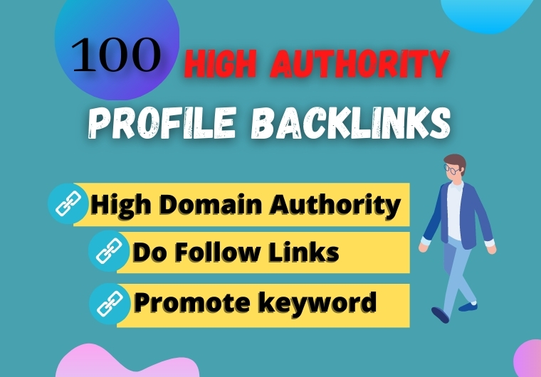 100 Manually created High DA Profile Backlinks submission to Boost Website