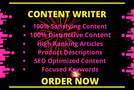 I will write 1300+ words of SEO optimized and plagiarism free content for you.
