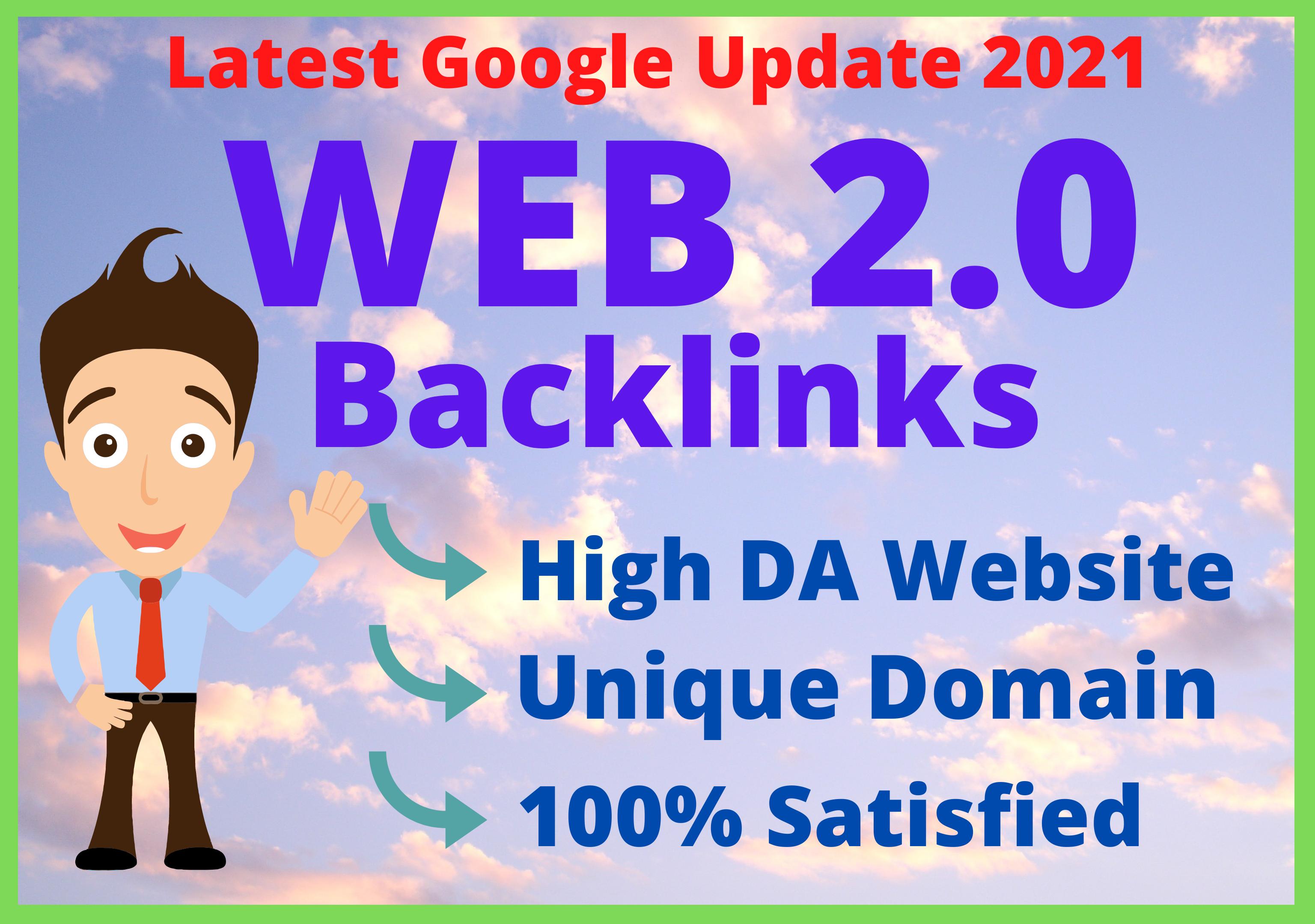 I will provide 50 Web 2.0 With High DA PA