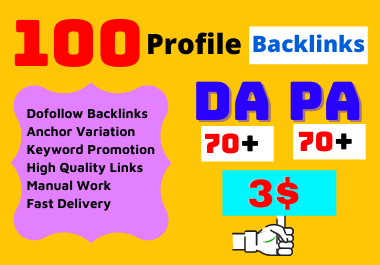Create 100 White Hat Manually SEO Profile Backlinks Building