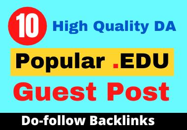 I Will Publish 10 High Quality DA EDU Guest Post on Top Universities