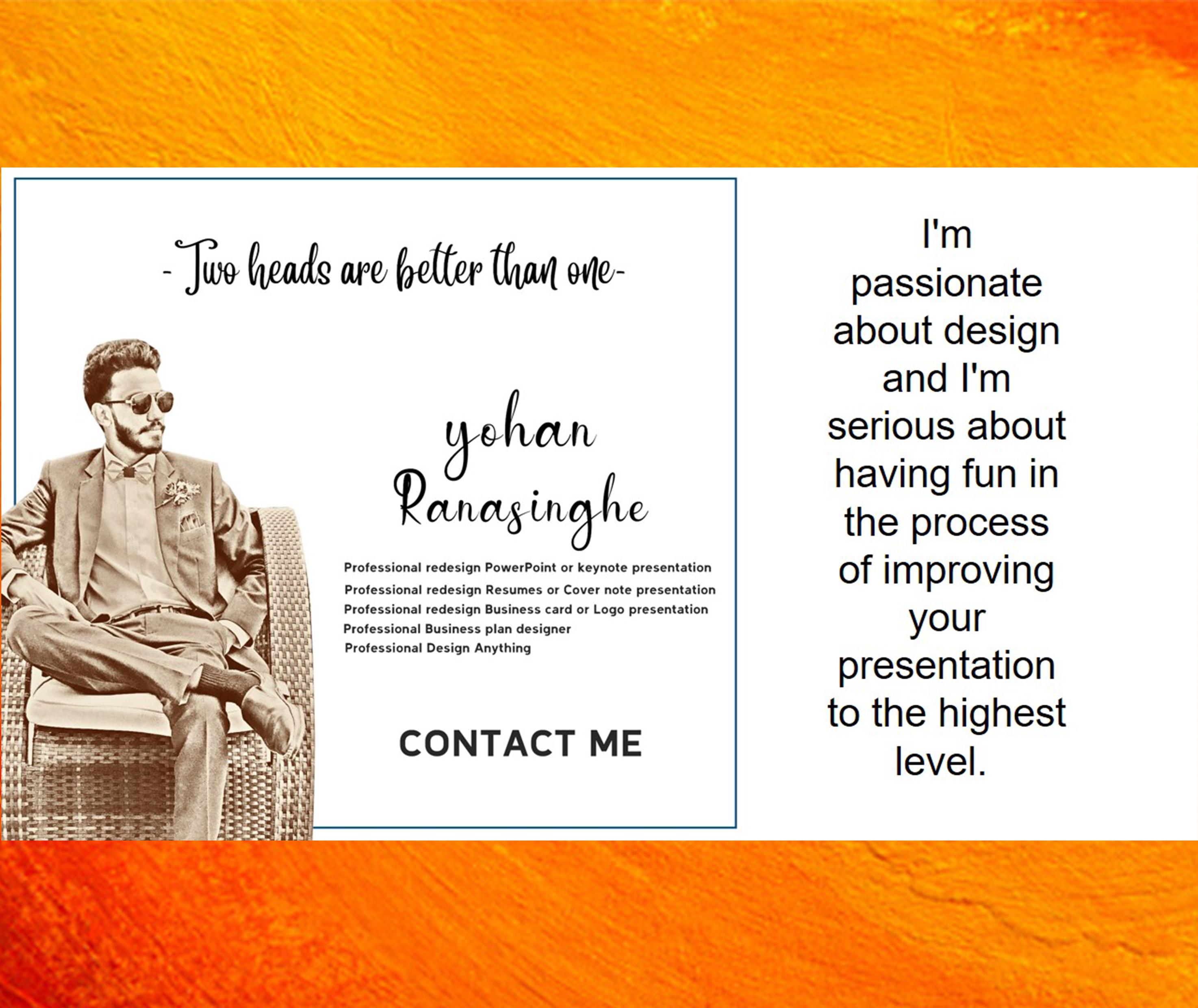 Design PowerPoint or keynote presentation