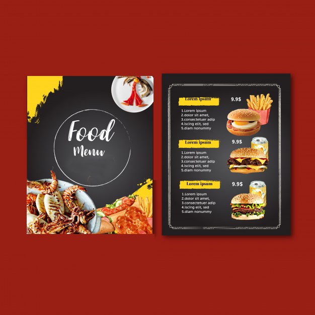I will make food menu, restaurant menu and menu board design in 8 hours