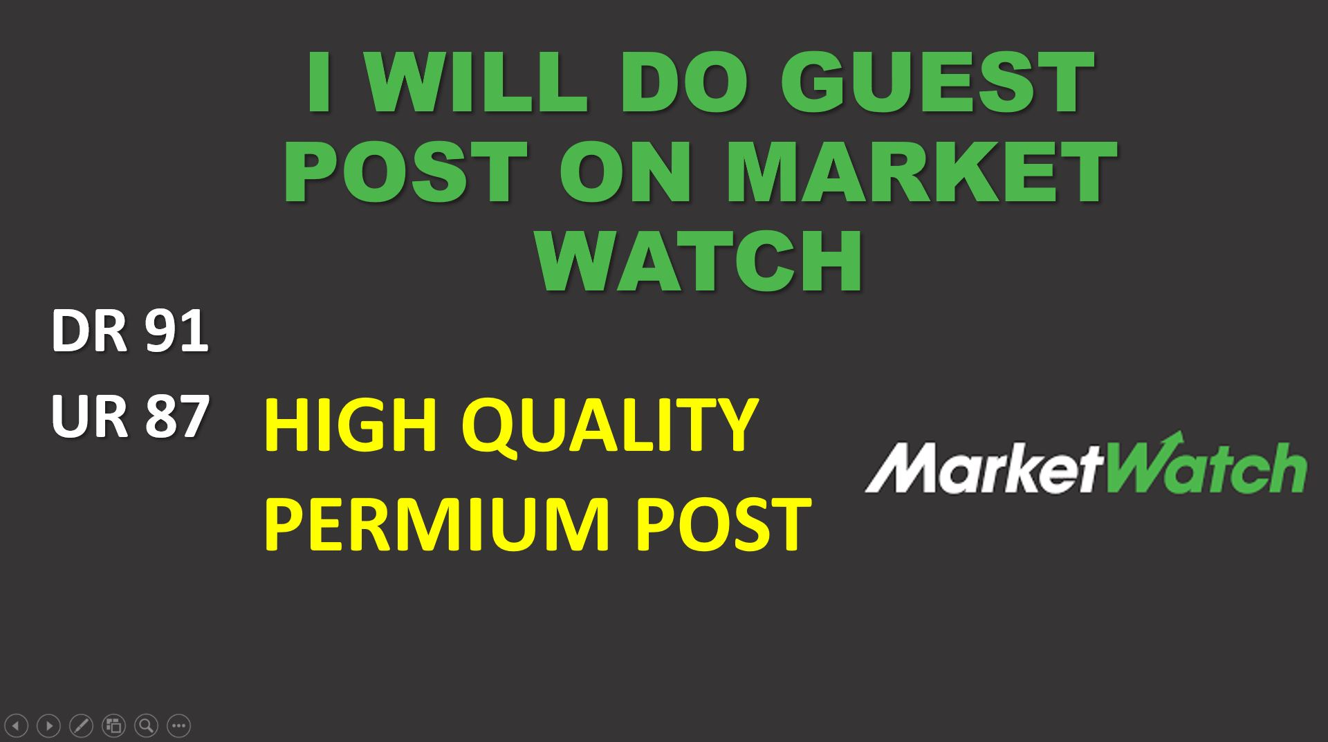 I Will Provide Press Release on Market Watch High DA High Traffic