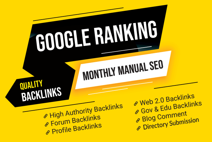 improve your website ranking with manual SEO backlinks package