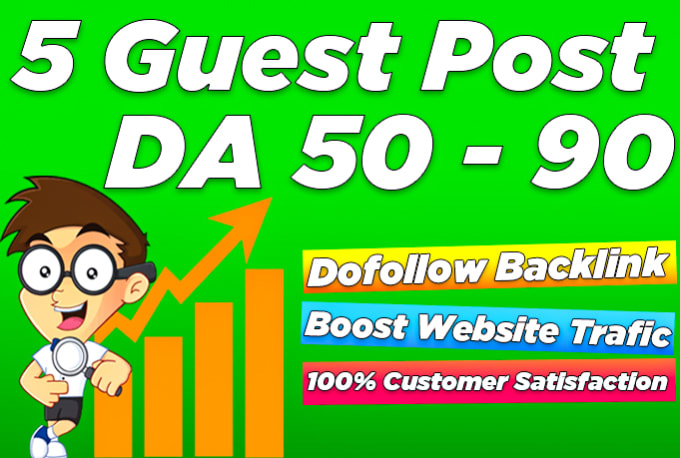 Publish 5 guest post on tech niche site with 10 dofollow backlinks