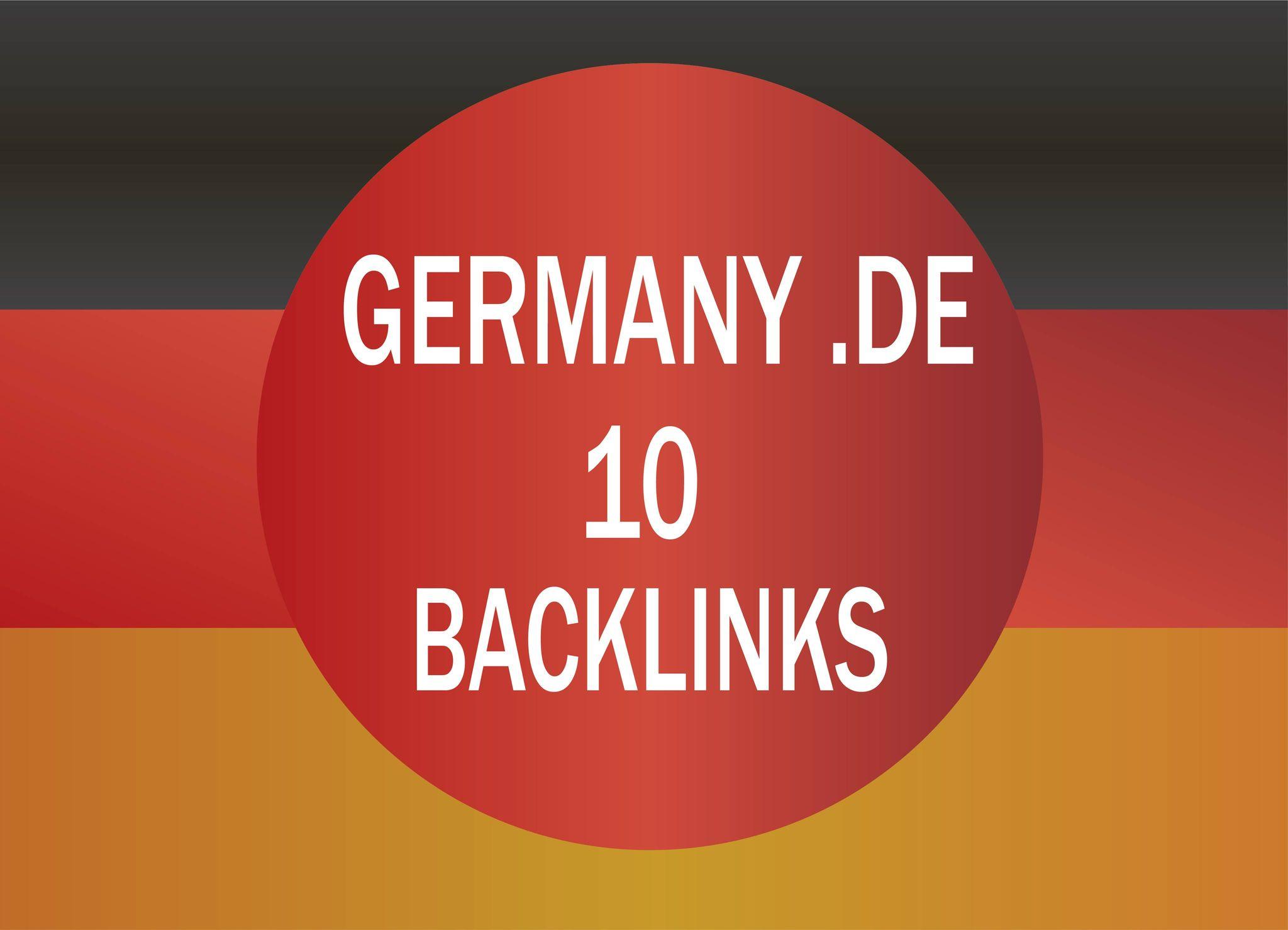 provide 10 .de germany dofollow backlinks manual work
