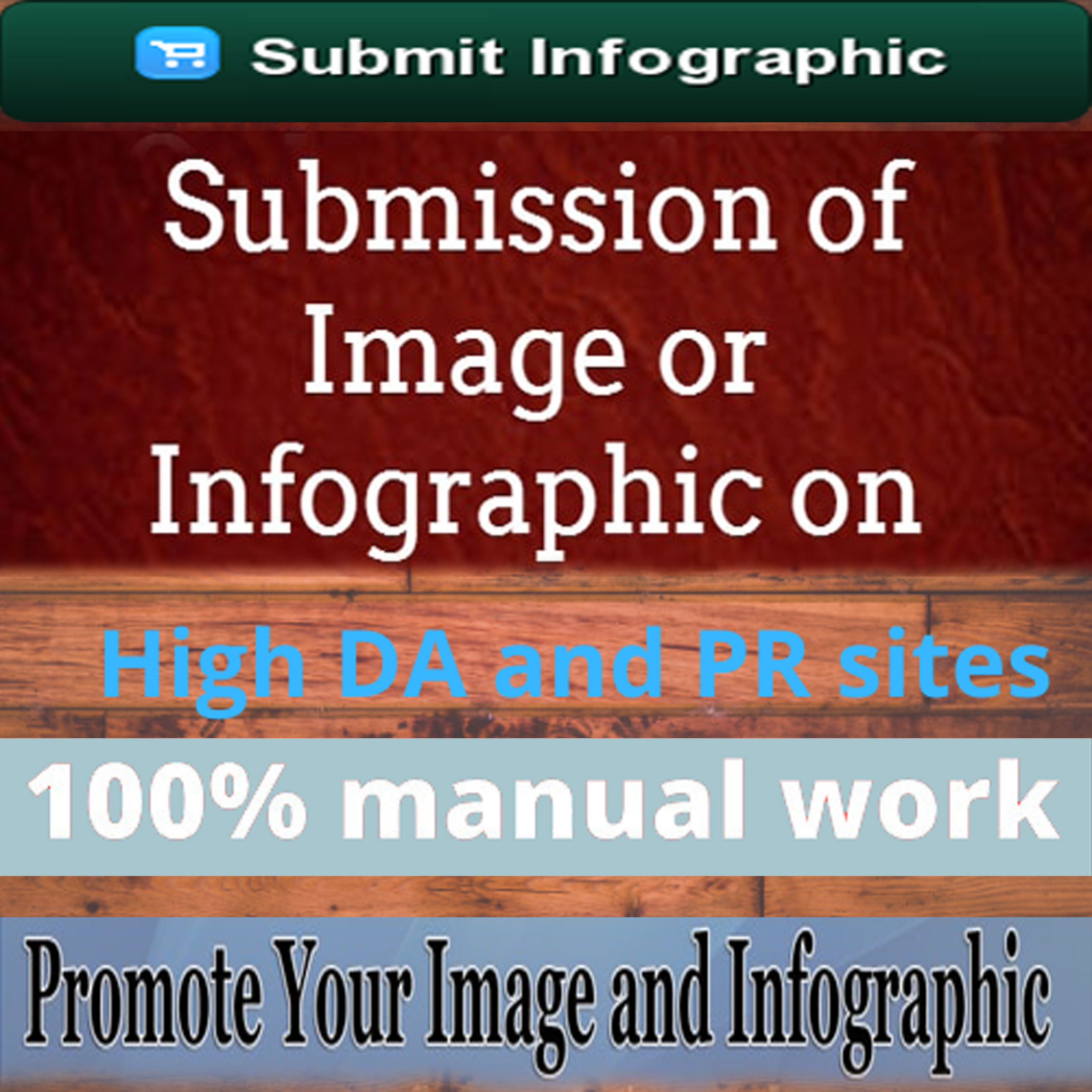 I will do 80 infographics submission on image sharing site