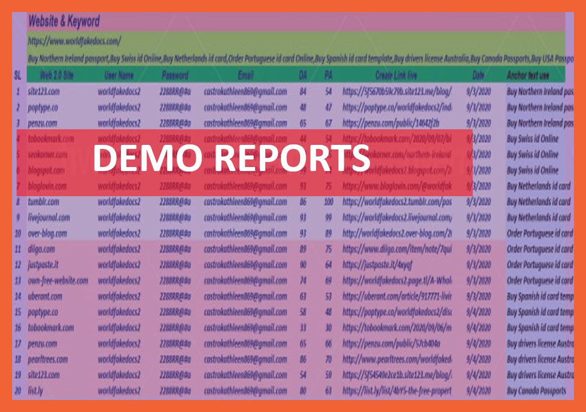 20 Contextual Web 2.0 High Authority SEO manual backlinks
