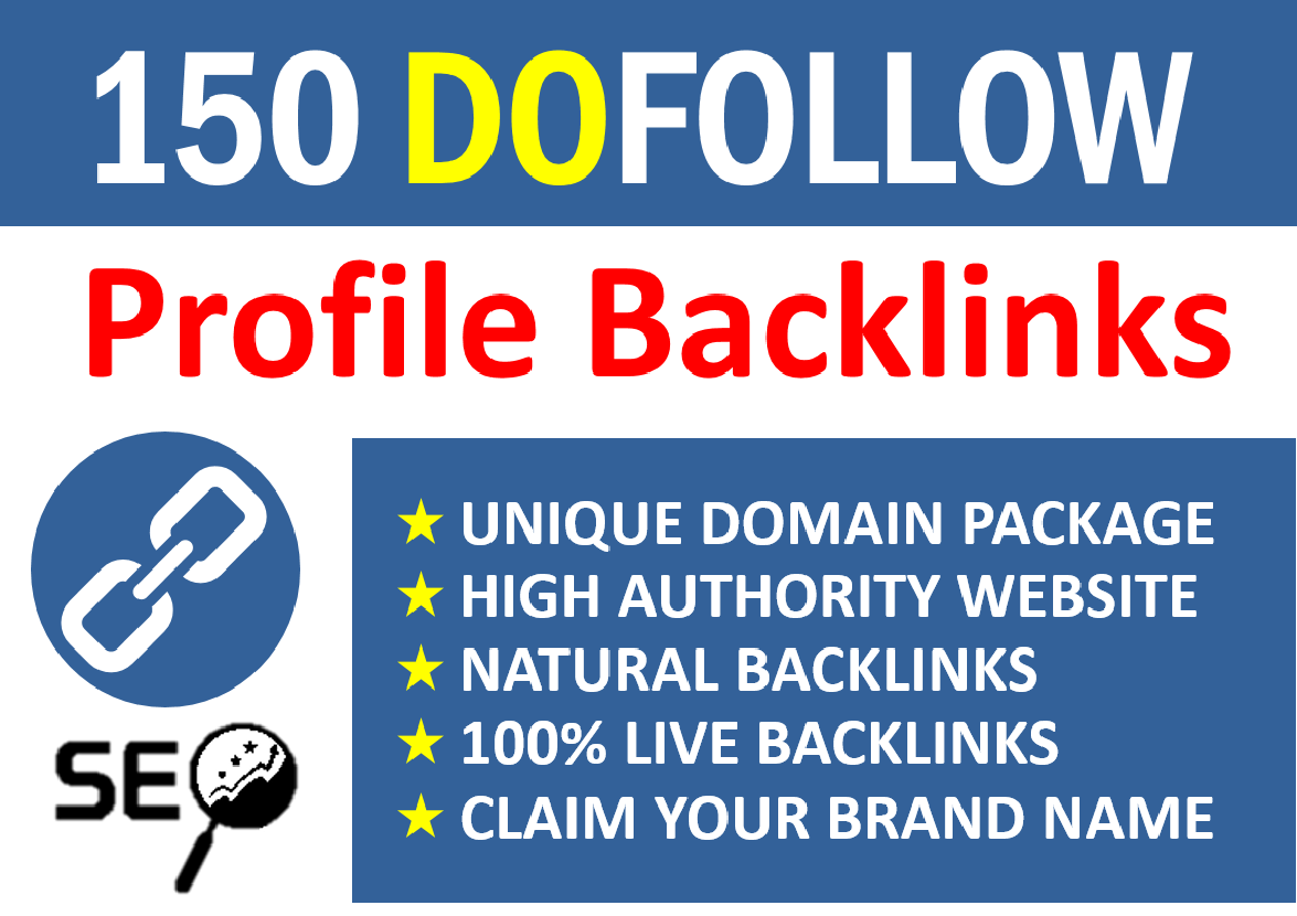 150 Manual Social Profile Backlinks Building Service for 2021 Google ranking