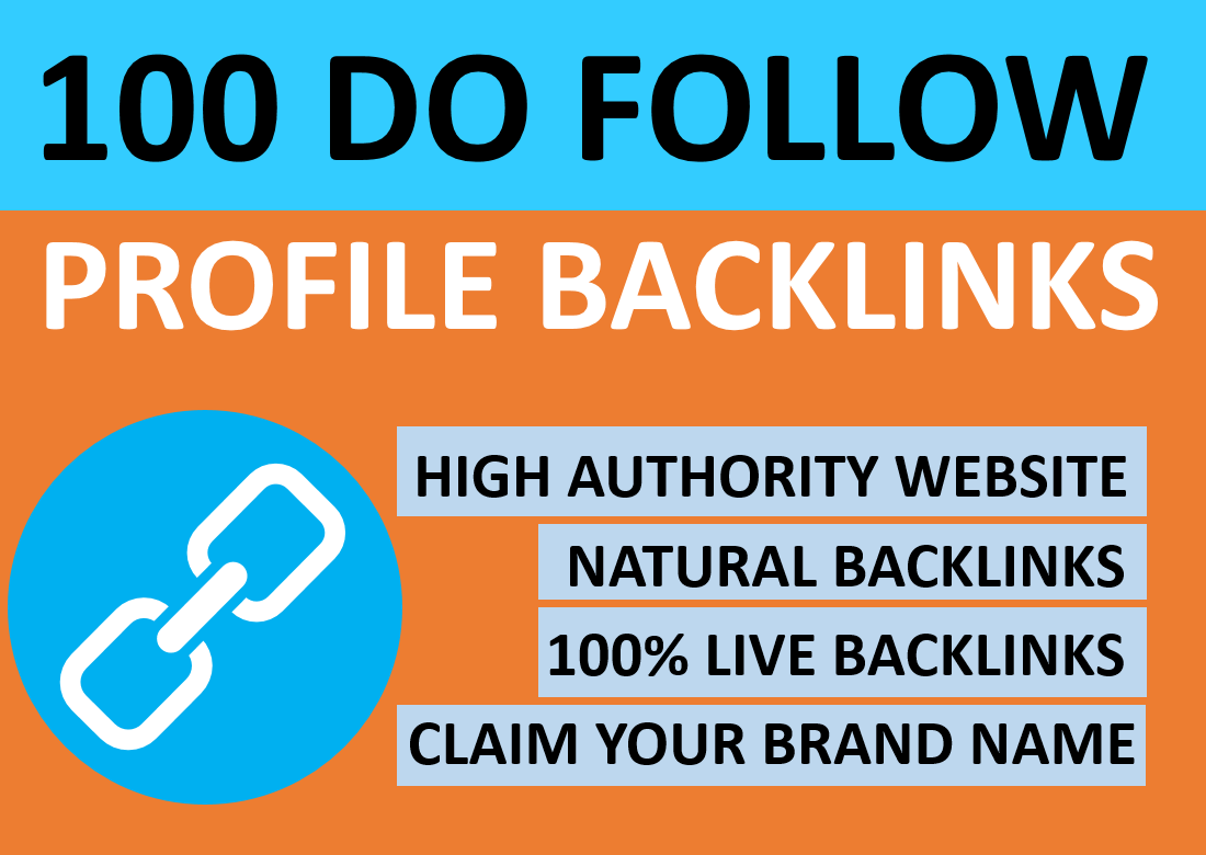 Manually Create 100 High Authority Profile Back-links on your website