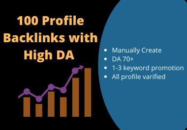 50 high authority social profile backlinks DA 80+ website only