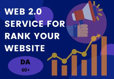 I will provide 30 high quality web 2.0 service manually